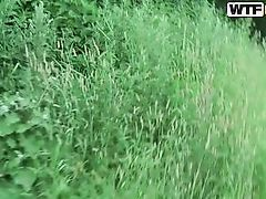 russian girl keen to nature and cock